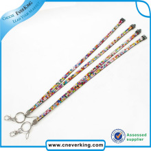 Rhinestone Lanyard Neck Lanyard with Metal Fittings