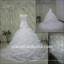 JJ2612 Latest Most Stunning nouvelle arrivée réelle de haute qualité en cristal de pierres robe stylée en orplaté robes de mariage