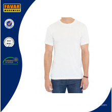 Men′s manga corta algodón orgánico t Shirt