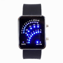 Fashion Silicone Band Binary Watches, led watches women