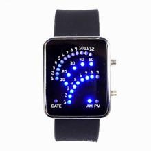 Мода силиконовой лентой Двойные часы, светодиодные женские часы
