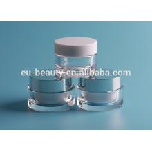 Novo recipiente de cosméticos acrílicos frascos redondos