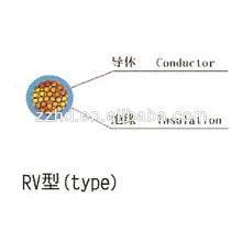 Cable flexible 300 / 500V 450 / 750V Cobre-Trenzado-Cable-RVV Cable aislado de PVC