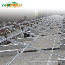 Sistema de montaje de techo plano solar Sistema de montaje de panel solar Sistema de montaje de panel solar en la azotea