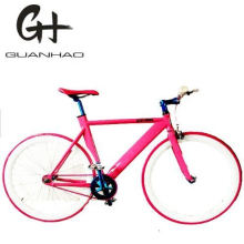 700c Ce Matte Black Bullhorn Bar Aluminium Single Speed Track Fixie Gear Bike