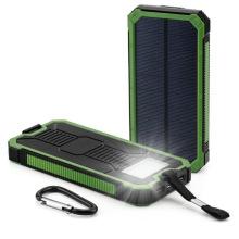 Banco impermeável do poder solar de 2 USB 8000mAh com diodo emissor de luz
