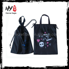 La venta caliente calza los bolsos de compras, bolsos de lazo para la electrónica, bolsos de polvo no tejidos del lazo
