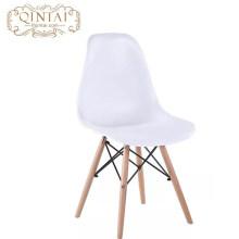 Оптовый дешевый скандинавский вид в скандинавском стиле Довольно из пластика и дерева, гостиная белый стул