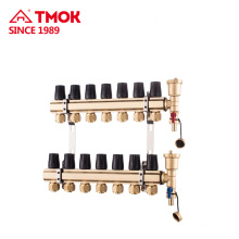 Brass material Manifolds for Underground heating system use in cold weather Manual or Automatic switch