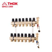 Manifolds de material de latón para el uso del sistema de calefacción subterránea en clima frío Interruptor manual o automático