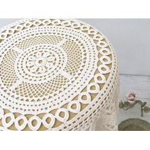 Фабрика оптовой продажи Handmade большой квадратный Tablecloth вязания крючком