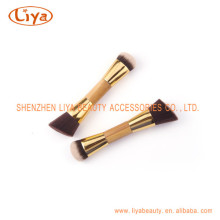 Top Seller Gold Aluminum Tube Powder Brush Dual Use