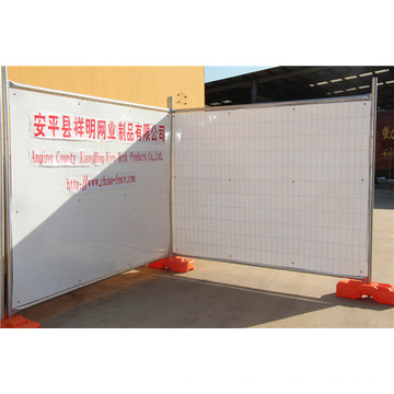 Au Type Popular Galvanized Temp Fence Construction temporaire Clôture avec China Factory