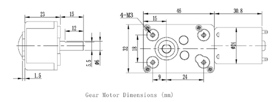 brushless worm gear motor
