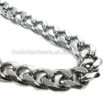 Art- und Weisequalitäts-Metall-Edelstahl facettierte Curb-Kette