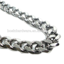 Moda de alta qualidade metal aço inoxidável facetado freio cadeia