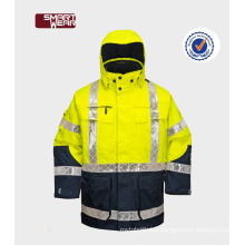 Best Selection Winter Reflective Work Wear Uniform removable safety reflective safety jacket