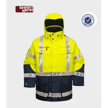 Melhor Seleção Inverno Refletivo Trabalho Desgaste uniforme de segurança removível jaqueta de segurança reflexiva