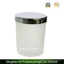 Bougie de pot en verre parfumée pas cher avec couvercle en métal