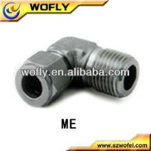 Accesorios masculinos del tubo del codo del tornillo del NPT del acero inoxidable de la venta caliente