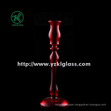 Single Post Glass Candle Holders for Home Decoration