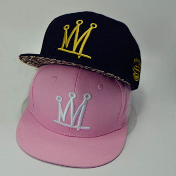 Two Embroidered Logos Snapback Cap