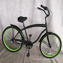 Black Color Aluminum 3 Speed Factory Mens Beach Cruiser Bike