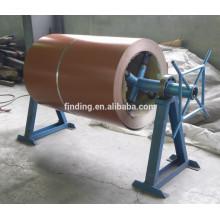 China máquina de bobina de aço manual uncoiler