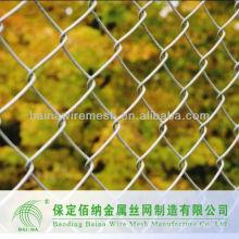Valla de enlace de cadena residencial revestida de PVC galvanizado