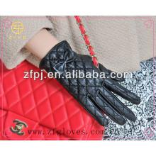 Nuevos guantes de cuero de la manera del estilo para la señora
