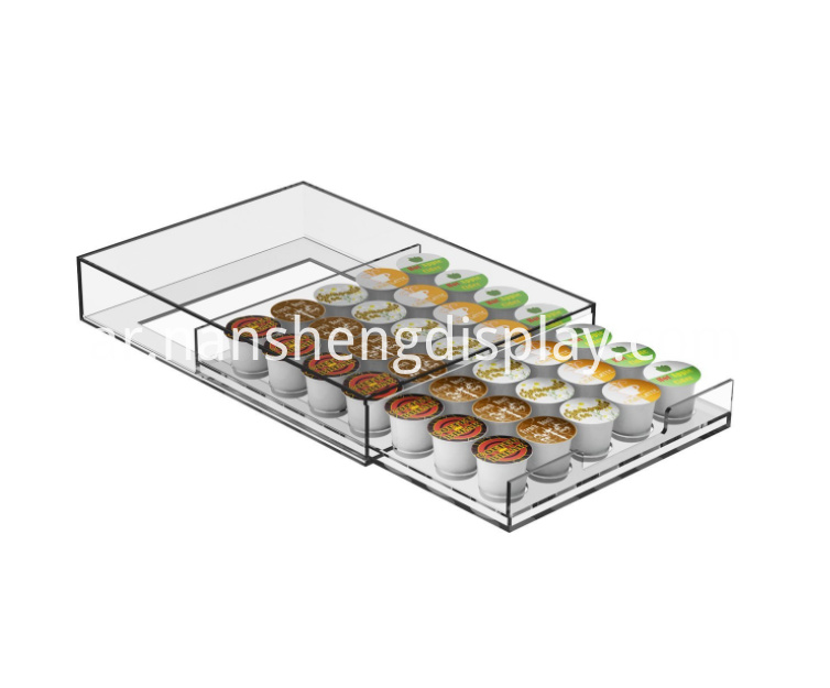 Clear Single Serve Coffee Pod Storage Drawer