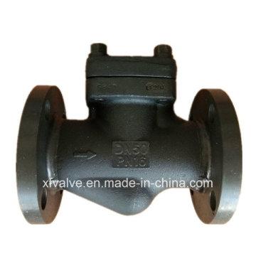 Válvula de retención de elevación del extremo de conexión de brida de acero forjado A105 DIN