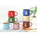 Sunboat Ceramic Mug Retro Imitation Enamel Cup Coffee Cup Tableware