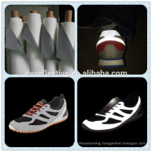 new products in China market alibaba PU synthetic reflective leather for shoes