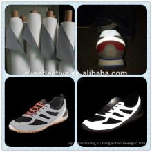 новые продукты на рынке Китая алибаба PU синтетическая кожа для обуви светоотражающие