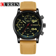 three eyes chronograph men watch japan movt quartz wristwatch