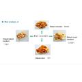 Snack Food Harina de trigo al horno Granos Snack Crisp