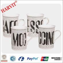 Vente en gros Tasses en céramique Tasse à bière / Grès Coupes de café modernes / Prix de la conception de lettre Tasse droite