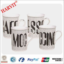 Wholesale Ceramic Mugs Beer Mug / Stoneware Modern Coffee Cups/ Price of Letter Design Straight Mug