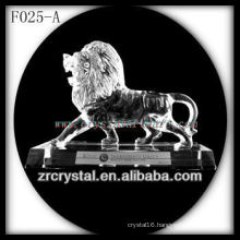 K9 Crystal Hand Sculpted Lion with Base
