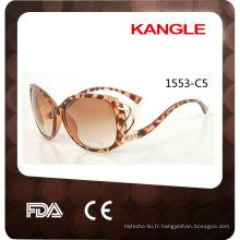 2017 personnalisé lunettes de soleil en plastique