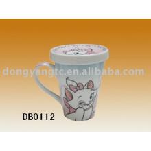 Taza de té de cerámica al por mayor 400cc directa de fábrica con la tapa