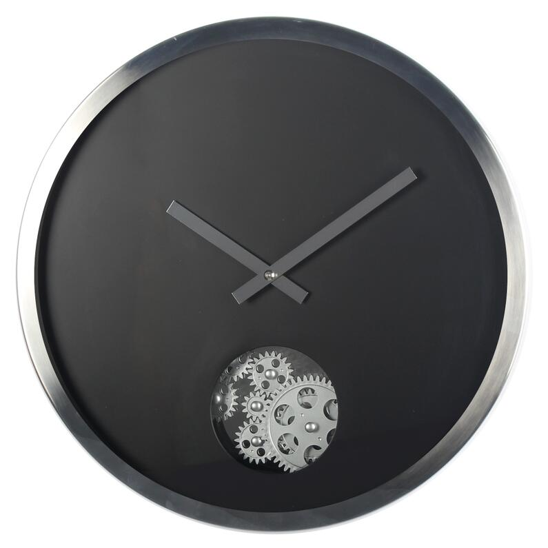 Wall Clock With Moving Gears