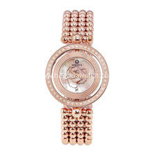 Rolling novelty stainless steel women watch