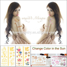 Waterproof Fashion Metal Changing Color Tattoo Sticker with Sunshine BS-8030