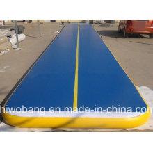Caída durable puntada de colchón de aire inflable para gimnasio