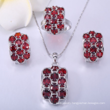 Wholesale fashion jewelry gem stone 925 silver jewelry set for women