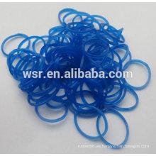 bandas de goma sintéticas de color azul transparente