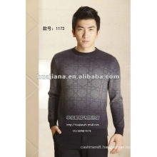 Fashion design man's dip dyeing cashmere sweater