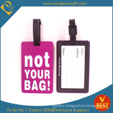 Hot Sale Custom Enbossed Logo PVC Luggage Tag